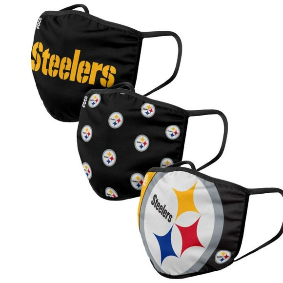 NFL Pittsburgh Steelers Face Cover- 3 Pack